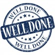 Well done grunge round blue stamp — Stock Photo #33978057