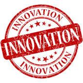 Innovation grunge round red stamp — Stock fotografie