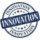 Innovation grunge round blue stamp — ストック写真