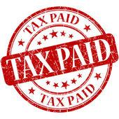 Tax paid grunge round red stamp — Stock Photo