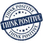 Think positive grunge round blue stamp — Stock Photo