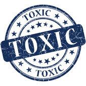 Toxic grunge round blue stamp — Stock Photo