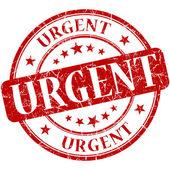 Urgent grunge round red stamp — Stock Photo