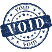 Void grunge round blue stamp — Stock Photo