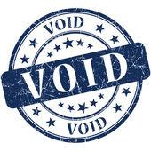 Void grunge round blue stamp — Stock Photo