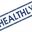 Stock Photo: Healthly square blue grunge stamp