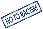 No to racism square blue grunge stamp — Stockfoto