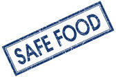 Safe food square blue grunge stamp — Stockfoto
