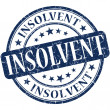 Stock Photo: Insolvent grunge blue round stamp