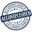 Foto de Stock  : Accomplished grunge blue round stamp