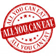 All you can eat grunge red round stamp — Lizenzfreies Foto