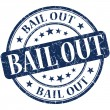 Stock Photo: Bail out grunge blue round stamp