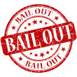 Bail out grunge red round stamp — Stock Photo