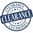 Stock Photo: Clearance grunge blue round stamp