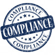 Stock Photo: Compliance grunge blue round stamp