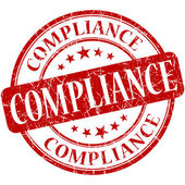 Compliance grunge red round stamp — Stock Photo