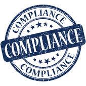 Compliance grunge blue round stamp — Stock Photo