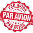 Stock Photo: Par avion grunge round red seal