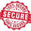 Secure grunge round red seal — Stock Photo