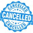 Stock Photo: Cancelled grunge round blue seal