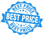 Best price grunge round blue seal — Foto Stock