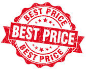 Best price grunge round red seal — Stock fotografie