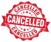 Cancelled grunge round red seal — Stock Photo