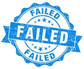 Failed grunge round blue seal — Stock Photo