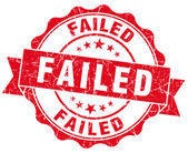 Failed grunge round red seal — Stock Photo