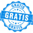 Stock Photo: Gratis grunge round blue seal