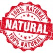 Natural grunge round red seal — Stockfoto #34372629