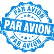 Par avion grunge round blue seal — Stock Photo
