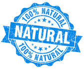Natural grunge round blue seal — Stock Photo