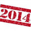 2014 grunge red stamp — Stockfoto