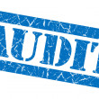 Audit grunge blue stamp — Stockfoto