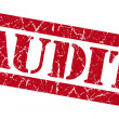 Audit grunge red stamp — Stockfoto