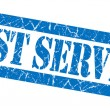 Best service grunge blue stamp — Stock Photo