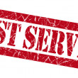 Stock Photo: Best service grunge red stamp