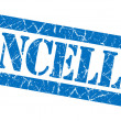 Stock Photo: Cancelled grunge blue stamp