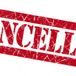 Stock Photo: Cancelled grunge red stamp