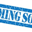 Coming soon grunge blue stamp — Stock Photo #34513407
