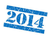2014 grunge blue stamp — Stock Photo