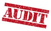 Audit grunge red stamp — Stock Photo