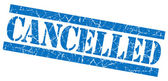 Cancelled grunge blue stamp — Stock Photo