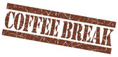 Coffee break grunge brown stamp — Stock Photo