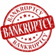 Stock Photo: Bankruptcy grunge red round stamp