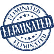 Eliminated grunge blue round stamp — Stock Photo