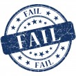 Fail grunge blue round stamp — Stock Photo