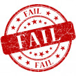 Fail grunge red round stamp — Stock Photo