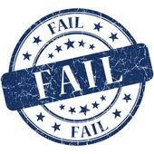 Fail grunge blue round stamp — Stock Photo